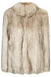 Abrigo de piel de Topshop
